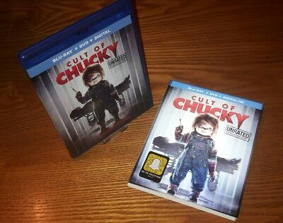 CULT OF CHUCKY Blu-ray US import region a free (rare OOP 3D slipcover slipcase)