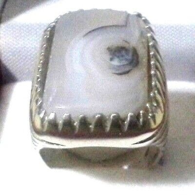 islam silver ring sterling 925 with natural Suleiman خاتم فضة عالية حجر سليماني