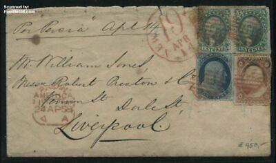 United States of America 1858 Letter per SS Persia to Liverpool England, (NEW 19