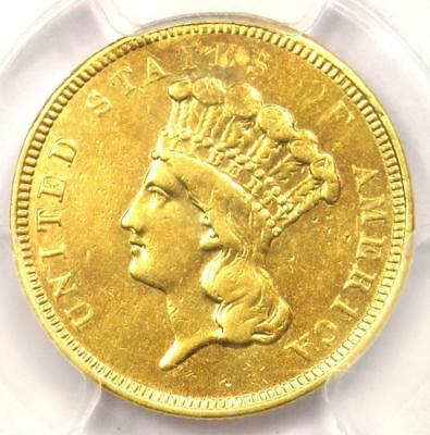 """1854-O Three Dollar Indian Gold Coin $3 - PCGS XF Details (EF) - Rare """"O"""" Mint!"""
