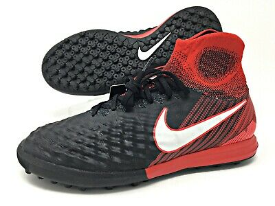 d615fae42 Nike MagistaX Proximo II DF TF Black Red Men s Indoor Soccer Shoes (843958-