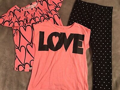 b22188cc9 Lot Of 3 Toddler Girls Size 3T Salmon Colored Shirts And Old Navy Leggings