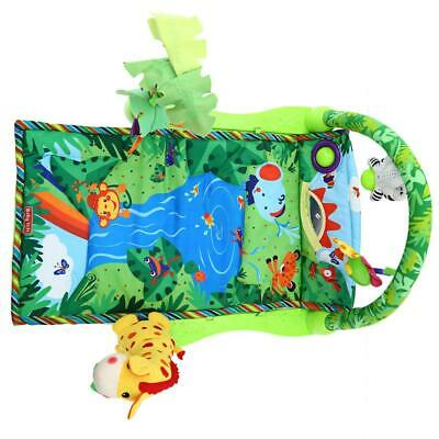 Baby Forest Gym Music Game Blanket Fitness Rack Floor Crawl Play Mat Cushion for
