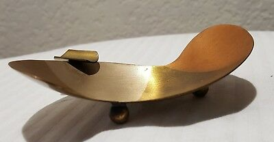 Art Deco Vintage Solid Brass Ashtray Design