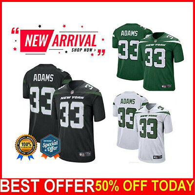 MENS NIKE JAMAL Adams Ny Jets Game Day Jersey Green Preowned Worn  supplier