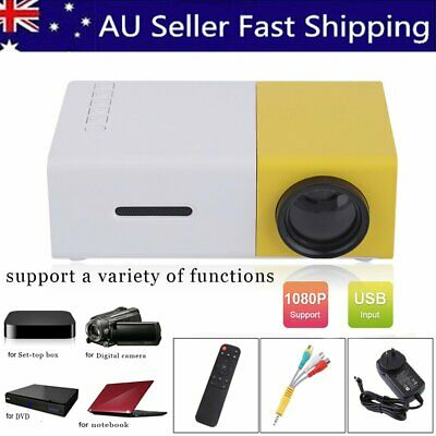 YG300 600 LM Mini LED Theater Video Projector Portable Clear Images Multimedia