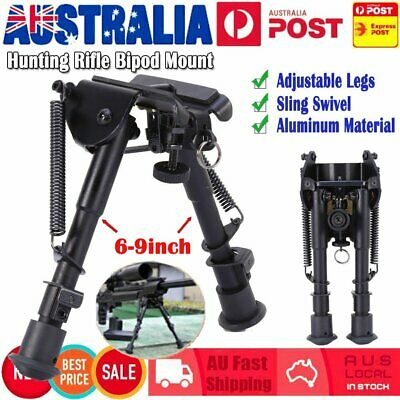 """Adjustable Legs 6"""" to 9"""" Height Sniper Hunting Rifle Bipod Harris Style Mount TO"""