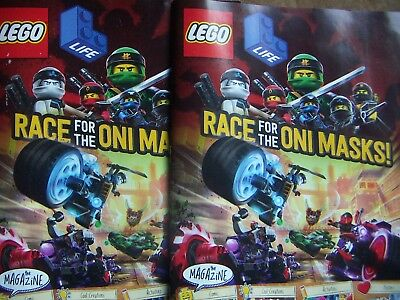 LEGO MAGAZINE March-May 2018 Race For the Oni Masks! Lot of 2 Magazine