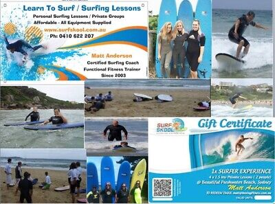 Mothers Day Gift Voucher Learn To Surf Surfing Lesson School Freshwater Beach