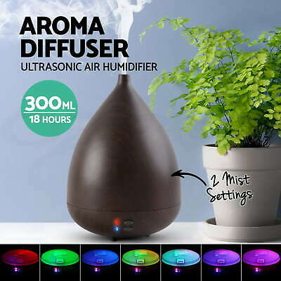 Aroma Diffuser LED Essential Ultrasonic Air Humidifier Aromatherapy Purifier