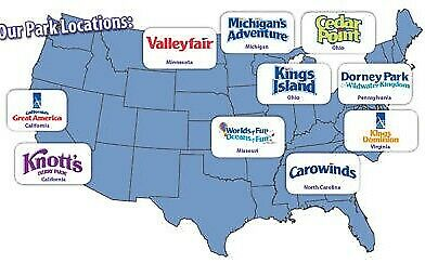 4 Tickets to Any Cedar Fair Theme Park: Cedar Point, Knotts Berry Farm + 10 more