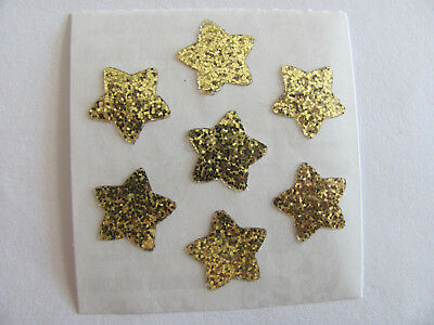 Vintage Sandylion Glitter Gold Stars Sticker Mod