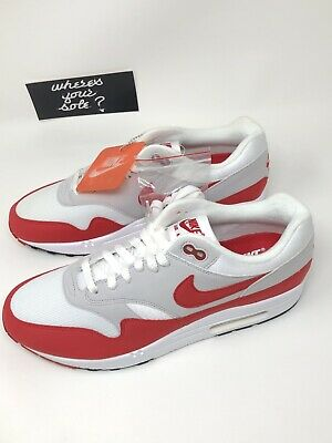 6f41817ed7 Nike Air Max 1 One OG 30th Anniversary Size 10.5 Red White 2017 NEW DS  908375103