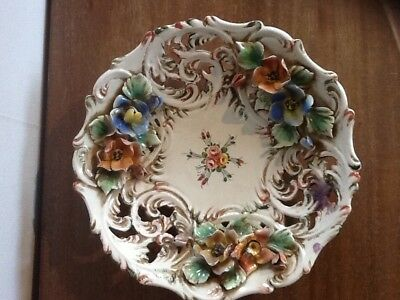 Assitte Decor Fleurs Barbotine En Relief