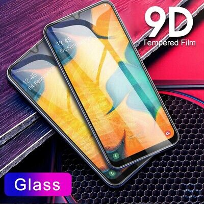 For Samsung Galaxy A20 A30 A50 A70 9H Full Tempered Glass Screen Protector Guard