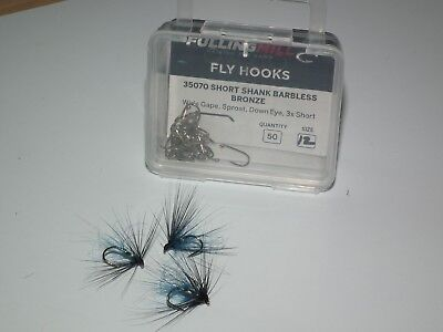 trout ........donegal blue f/mill barbless short shank size 12