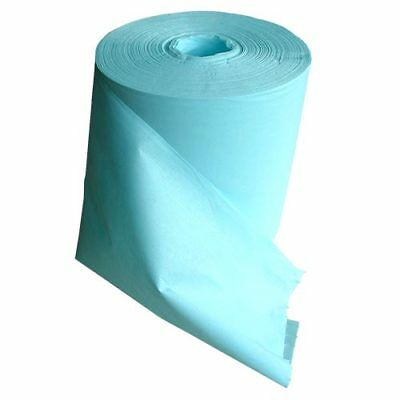 High quality, lint free wiping cloths on a roll-turquoise-400 per roll, inc. VAT