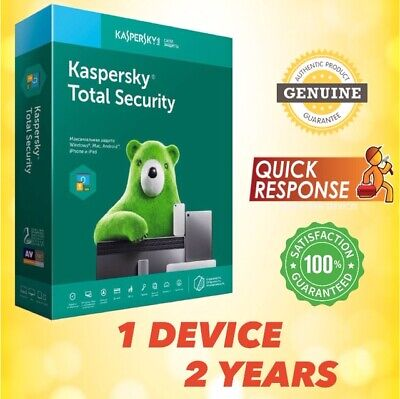 Kaspersky Total Security 2019 Antivirus - 1 Pc | 1 Device | 2 Year