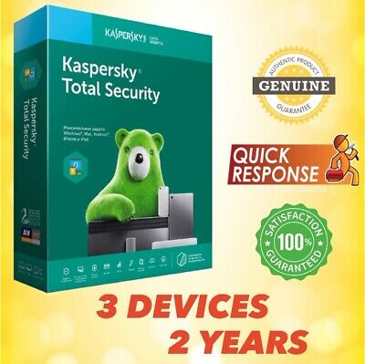 Kaspersky Total Security 2019 Antivirus - 3 Pc | 3 Device | 2 Year