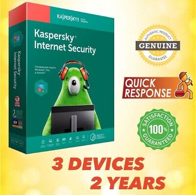 KASPERSKY INTERNET SECURITY 2020 ANTIVIRUS - 3 PC | 2 YEAR | For Windows