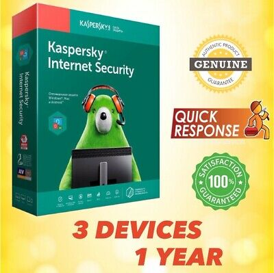 KASPERSKY INTERNET SECURITY 2020 ANTIVIRUS - 3 PC | 1 YEAR | For Windows