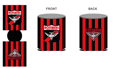 3 X Essendon Bombers Foldable Stubby Coolers