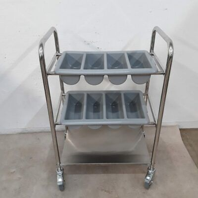 Commercial Cutlery Serving Trolley Stainless