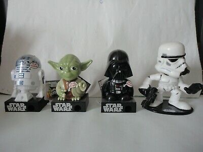 Lot figurines star wars candy bubble head Yoda Dark Vador  guerre des étoiles