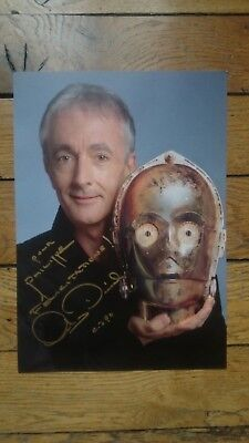 ANTHONY-DANIELS-C-3PO-Star-Wars-GENUINE-Autograph