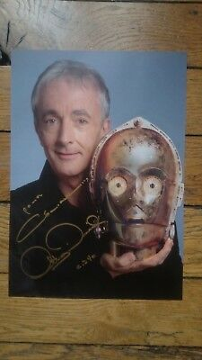 ANTHONY DANIELS - C-3PO (Z-6PO)- Star Wars GENUINE AUTOGRAPH