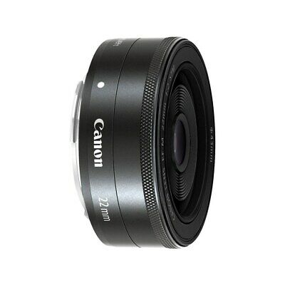 Canon EF-M 22mm f/2.0 STM Pancake Lens for EOS M - Black - Retail Packing TT