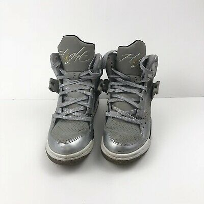 online store 4d8e9 c2b75 Nike Air Jordan Flight 45 silver gold 524864-030 High 4.5youth Fits Women  Size