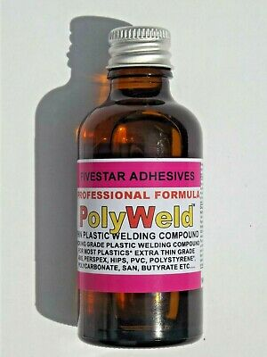 Plastic weld Poly-Weld glue adhesive perspex abs acrylic hips polycarbonate 57ml