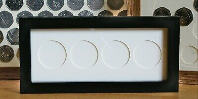 Display Frame for UK Crown Coins - Black wall hanging case for Five Pound/Crown