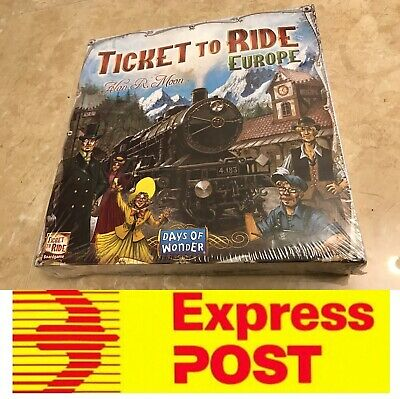 Ticket To Ride Europe Edition, Fantastic Board Game, AU Stock, Express Post