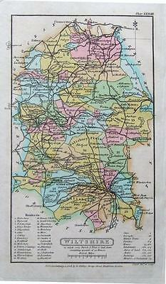 WILTSHIRE, Capper Original First Edition Hand Coloured Antique County Map 1808