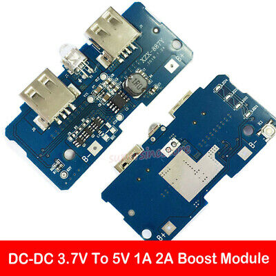 5V 1/2A POWER Bank Charger Module Step Up Boost Dual USB LED