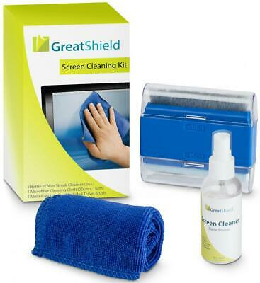 GreatShield LCD Screen Cleaning Kit with Microfiber Cloth, Brush and...