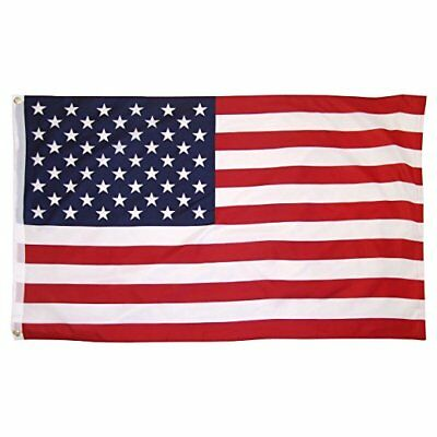4x6 ft American Flag Sewn Stripes Embroidered Stars & Brass Grommets Made in USA