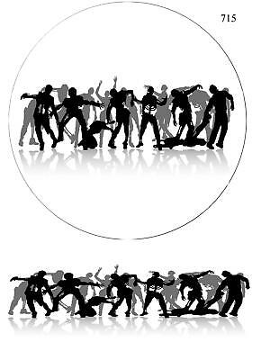 "Icing Cake Topper Zombie Birthday Large 9, 10, 12"" frosting sheet.937"
