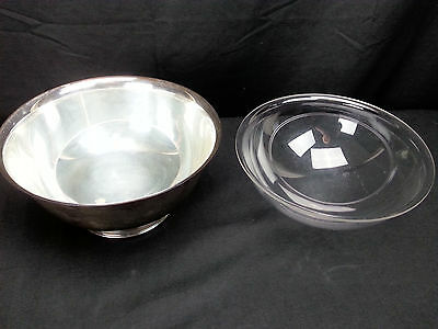 """9"""" Webster Wilcox International Silver Co. 33678 Silverplated Bowl Plastic Liner"""