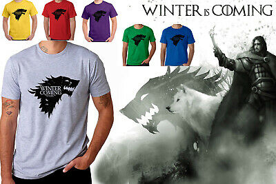 Game Of Thrones Print Winter Is Coming Stark T Shirt Casual Cotton High Quality