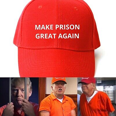 MAKE PRISON GREAT AGAIN HAT Trump Inspired PARODY FUNNY EMBROIDERED