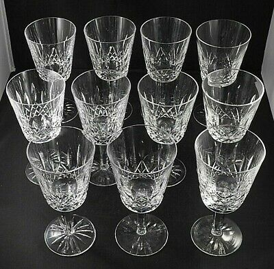 (Set of 11) Waterford Crystal LISMORE Large Water Wine Goblets Glasses
