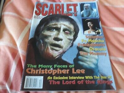 Scarlet Street #44 EX condition - Christopher Lee interview