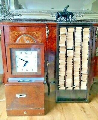 Mahogany Cased Time Recorder / Clocking In Machine