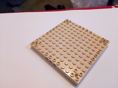 Lego Brick 12x12 with 3 Pin Holes on each Side and Peg at each Corner