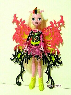 Monster High Freaky Fusions Hybrids Bonita Femur Doll Wings Dress Belt Shoes