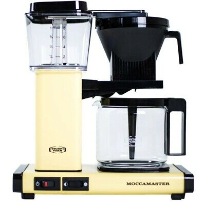 Moccamaster KBG Coffee Maker - Automatic Drip-Stop – 40oz Glass Carafe - Butter