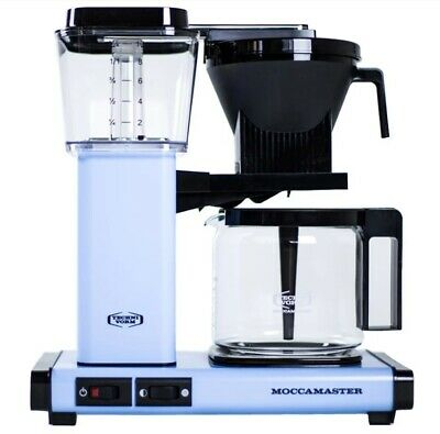 Moccamaster KBG Coffee Maker - Automatic Drip-Stop – 40oz Glass Carafe - Sky Blu